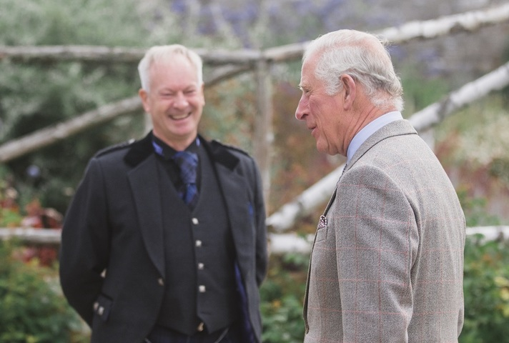 HRH Prince Charles The Duke of Rothesay with DSRL Operations Director Mick Moore