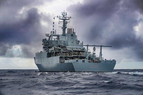 Stock image of Royal Navy survey ship HMS Enterprise