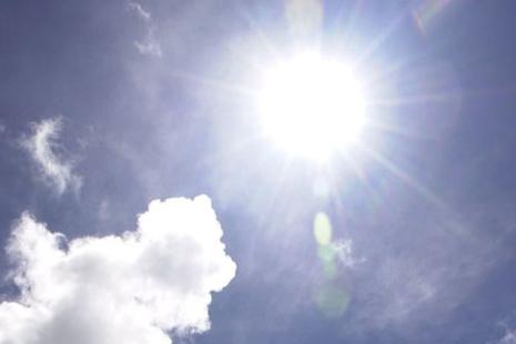 Sunshine in a clear sky.