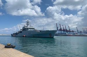 HMS Enterprise arrives to Beirut port