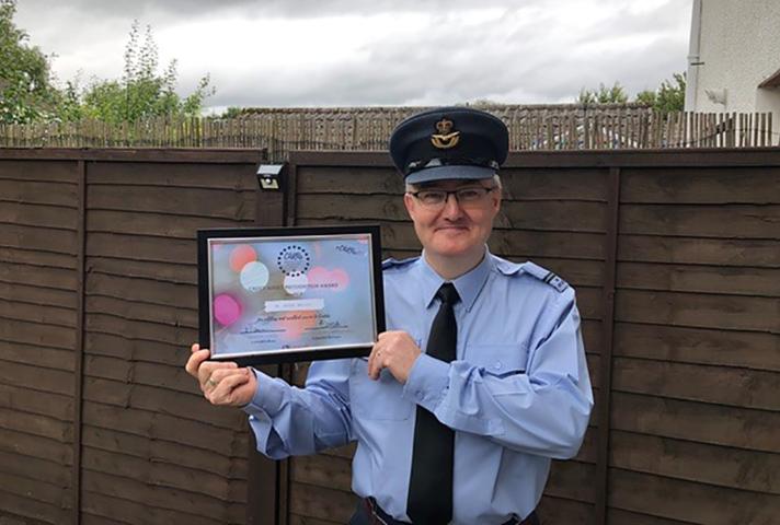 Overall CARA Winner Flt Lieutenant Grahame Kirsopp. Copyright Lowlands RFCA 2020