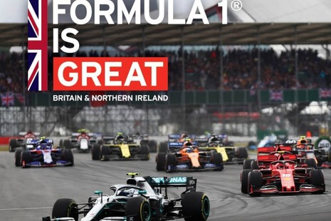 Formula 1 race shot at Silverstone