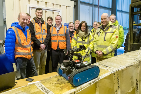 Representatives from RAIN with Jason Simpson and the ROV pictured earlier this year