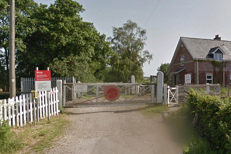 Google Street View image of Worlingham user worked crossing