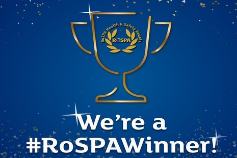 Graphic of the RoSPA Awards lo