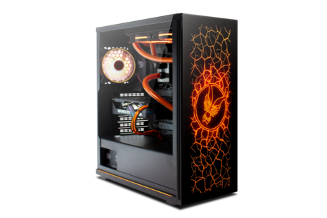 Fierce PC - Lumina desktop, custom built system with orange interior