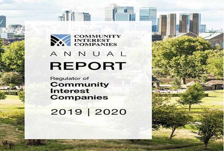 Front cover of the 2019-2020 Office of the Regulator of Community Interest Companies annual report