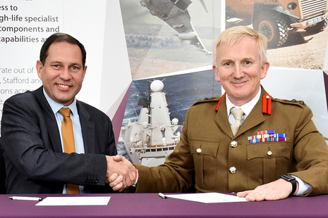Picture shows Geraint Spearing and Colonel Nick Lock