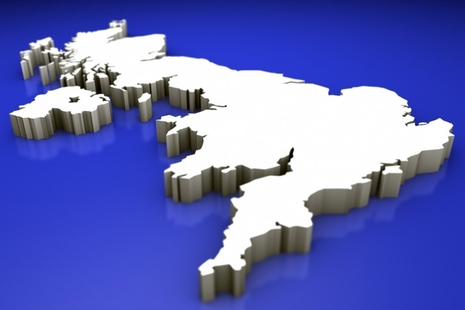 3D map of UK