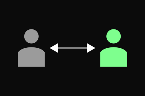 Graphic to represent social distancing