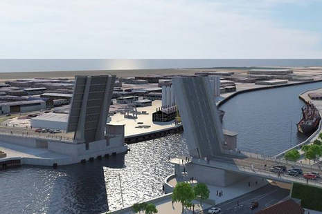 Artists impressions of Great Yarmouth Third River Crossing