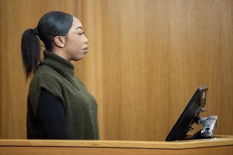 Woman giving evidence in court