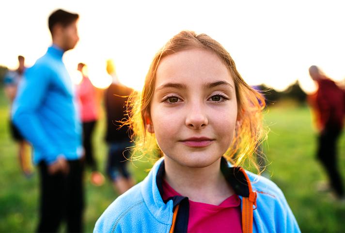 Photo of girl looking at camera