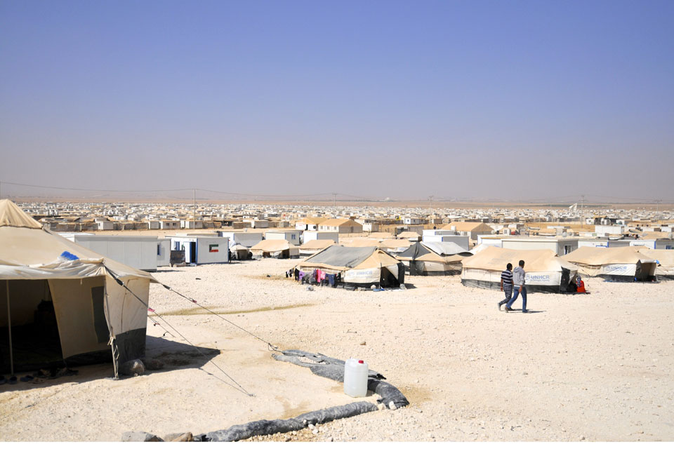 Syrian refugees at Zaatari refugee camp, Jordan.