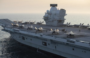 HMS Queen Elizabeth will take her place in the UK-led NATO Carrier Strike Group.