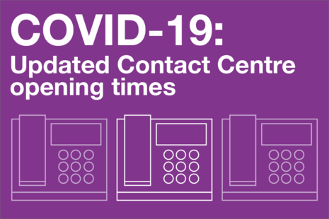 Update to Contact Centre opening hours' within 'Disclosure and Barring Service