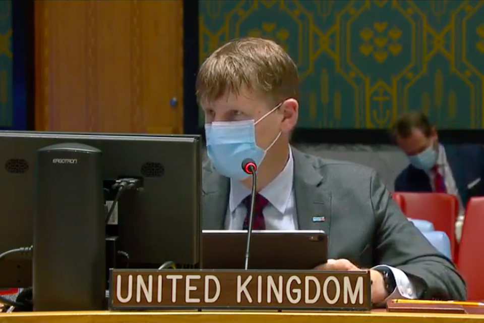 Ambassador Jonathan Allen at UNSC briefing on Yemen