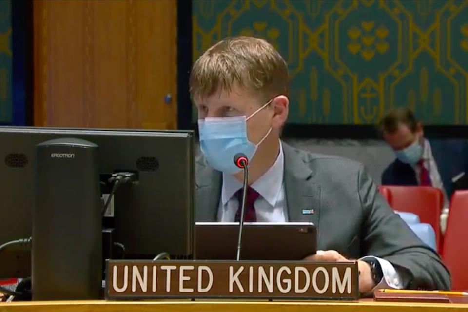 Ambassador Jonathan Allen at UNSC briefing on Yemen