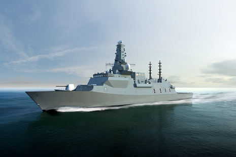 Image depicts a stock photo of the Type 26 frigate.