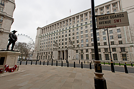 Image depicts MOD Main Building in London.