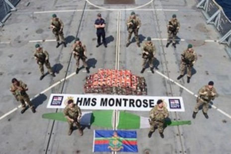 Sailors and Royal Marines from HMS Montrose contributed to an international effort