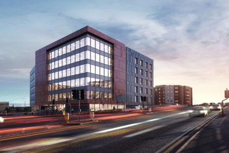 Artist's impression of Peterborough hub building