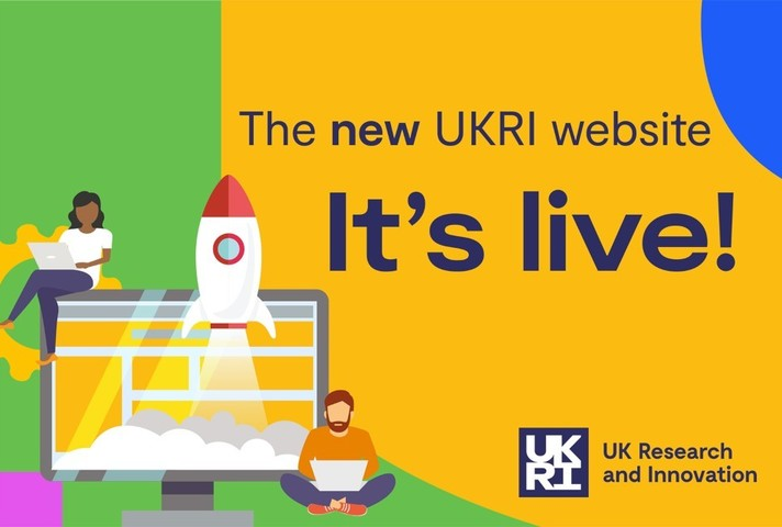 Graphic of the new UK Research and Innovation website