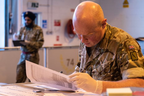 Armed Forces are supporting civil authorities in a range of roles including planning and logistics. MOD Crown Copyright.