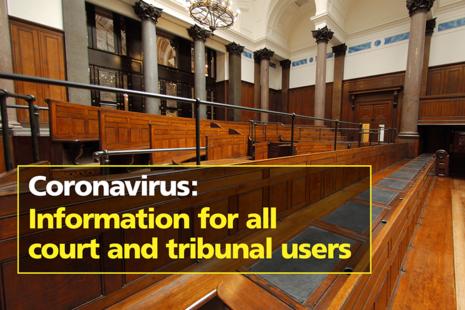 Inside a court