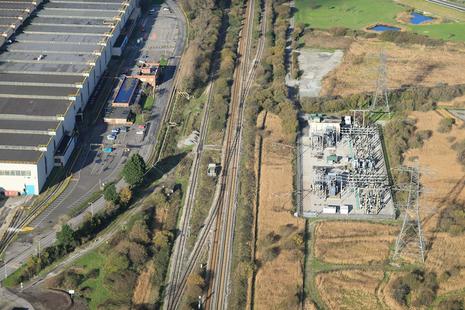 The railway at Margam (image courtesy of Network Rail)