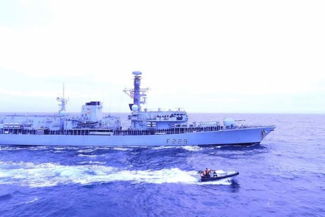 HMS Lancaster sails in the High North