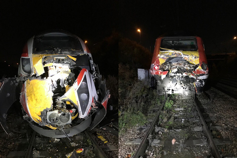 The class 800 train (left) and HST set (right) involved in the accident (images courtesy of Network Rail)
