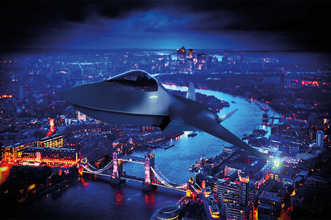 Image depicts the future Tempest aircraft.