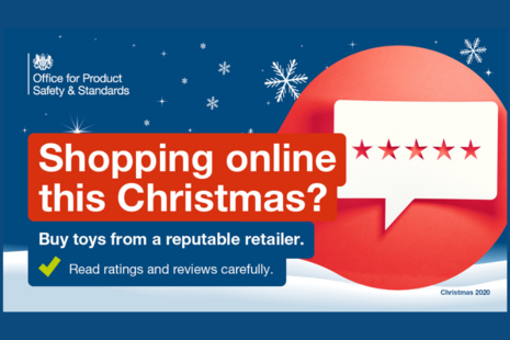 Campaign image for Christmas shopping online toy safety 2020