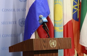 UN Security Council press stakeout