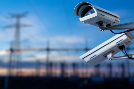 An image of two CCTV cameras in the countryside