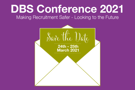 Decorative image that reads 'DBS Conference 2021, save the date'