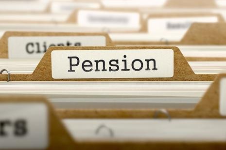 Pension folder tab