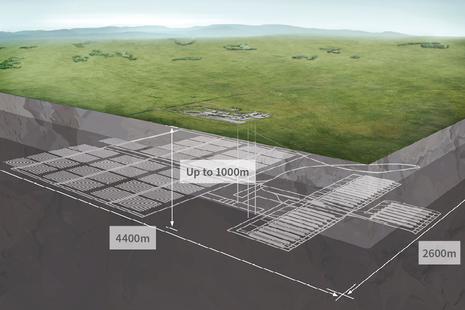 Cross diagram of geological disposal facility