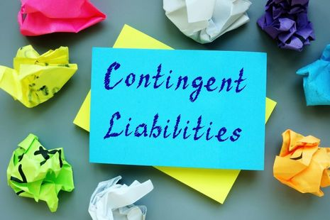 Contingent liabilities on a post-it note