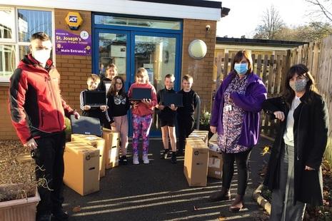 IT equipment donated to local schools in West Cumbria