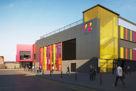 Artists impression of the new youth zone in Warrington town centre