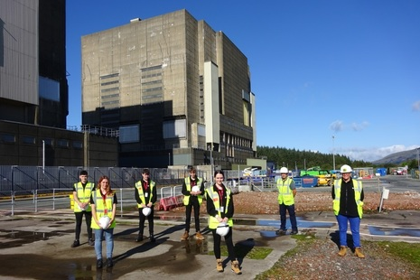 Some of the new apprentices at Trawsfynydd Site.
