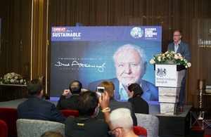 British Embassy Bangkok hosted the screening of Sir David Attenborough's latest documentary 'A Life on Our Planet'