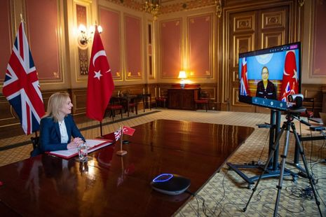 Call between Turkey and the UK