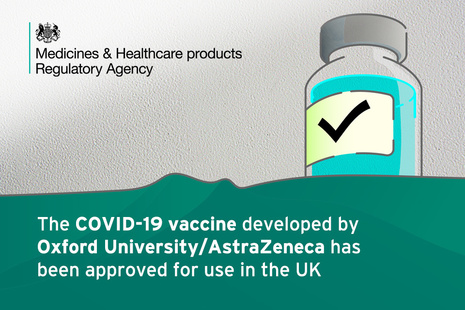 the COVID-19 vaccine developed by Oxford University/AstraZeneca has been approved for use in the UK