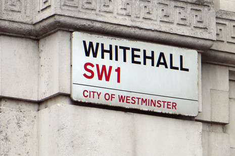 Whitehall SW1 sign
