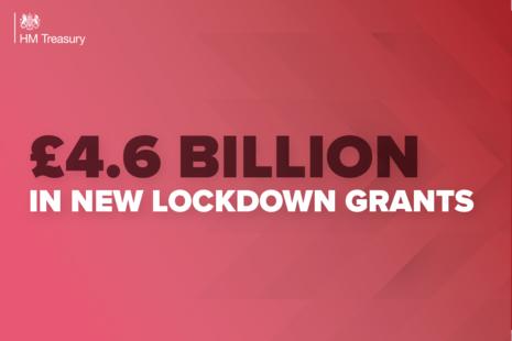 £4.6 billion in new lockdown grants