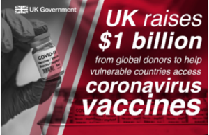 Read the 'UK meets £250m match aid target into COVAX, the global vaccines facility' article