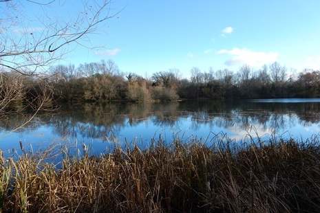 Swallow Lake, one of the Cotswold Water Park Lakes